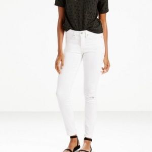 Levi's white 311 skinny jeans